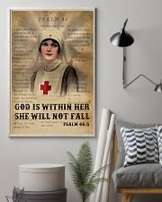 Bible Nurse She Will Not Fall 11x17 Poster lifestyle-poster-1