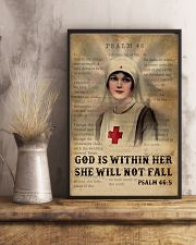 Bible Nurse She Will Not Fall 11x17 Poster lifestyle-poster-3