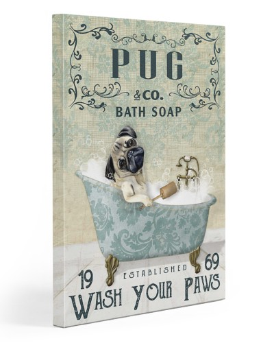 Vintage Green Bath Soap Pug
