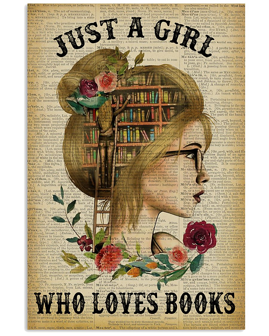 Just A Girl Who Loves Books Blond Reading 11x17 Poster