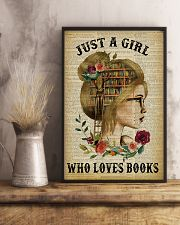 Just A Girl Who Loves Books Blond Reading 11x17 Poster lifestyle-poster-3