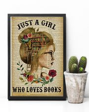 Just A Girl Who Loves Books Blond Reading 11x17 Poster lifestyle-poster-8