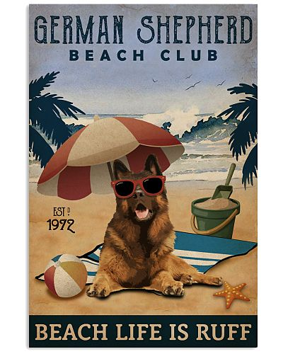 Vintage Beach Club Is Ruff German Shepherd