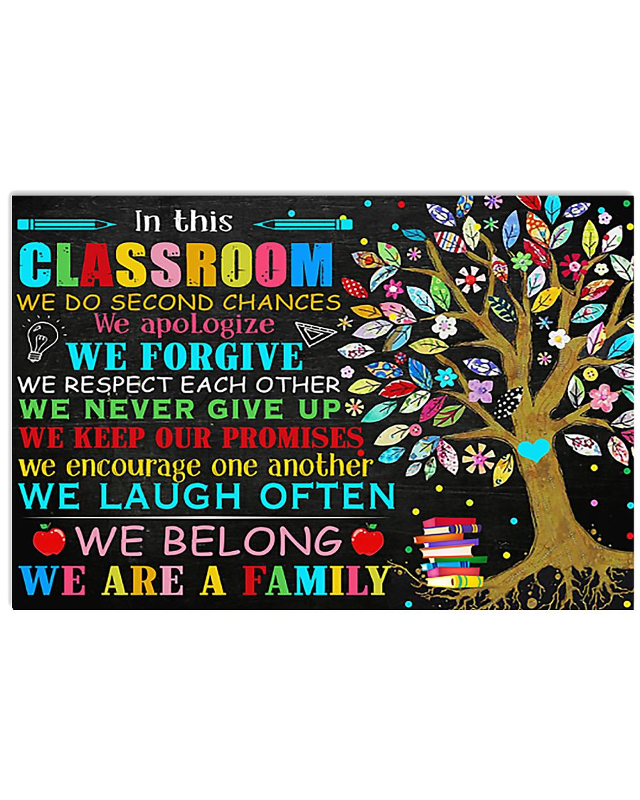 Teacher In This Classroom We Are A Family 17x11 Poster