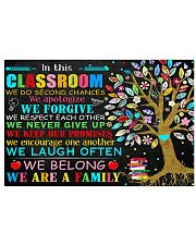Teacher In This Classroom We Are A Family 17x11 Poster front