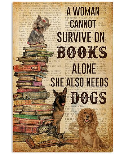 A Woman Survive On Books And Dogs