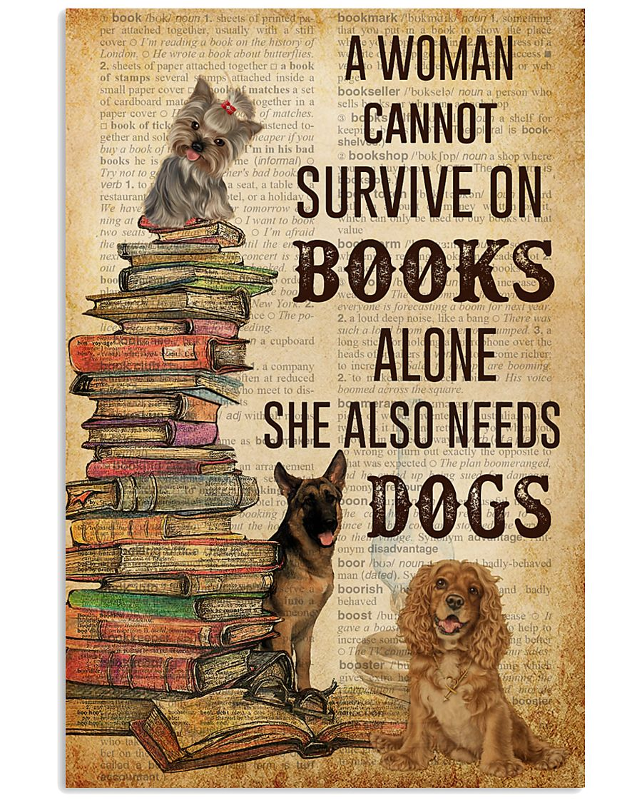 A Woman Survive On Books And Dogs 11x17 Poster