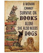 A Woman Survive On Books And Dogs 11x17 Poster front