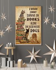 A Woman Survive On Books And Dogs 11x17 Poster lifestyle-holiday-poster-1