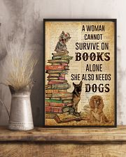 A Woman Survive On Books And Dogs 11x17 Poster lifestyle-poster-3