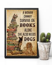 A Woman Survive On Books And Dogs 11x17 Poster lifestyle-poster-8