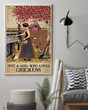 Dictionary Who loves Chicken Farm Girl 11x17 Poster lifestyle-poster-1