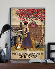 Dictionary Who loves Chicken Farm Girl 11x17 Poster lifestyle-poster-2