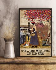 Dictionary Who loves Chicken Farm Girl 11x17 Poster lifestyle-poster-3