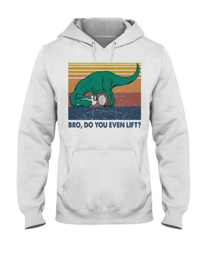 Retro NavyDo You Even Lift Lifting Dinosaur