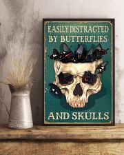 Retro Teal Easily Distracted By Butterflies 11x17 Poster lifestyle-poster-3
