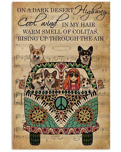 Music Sheet Cool Wind Corgi