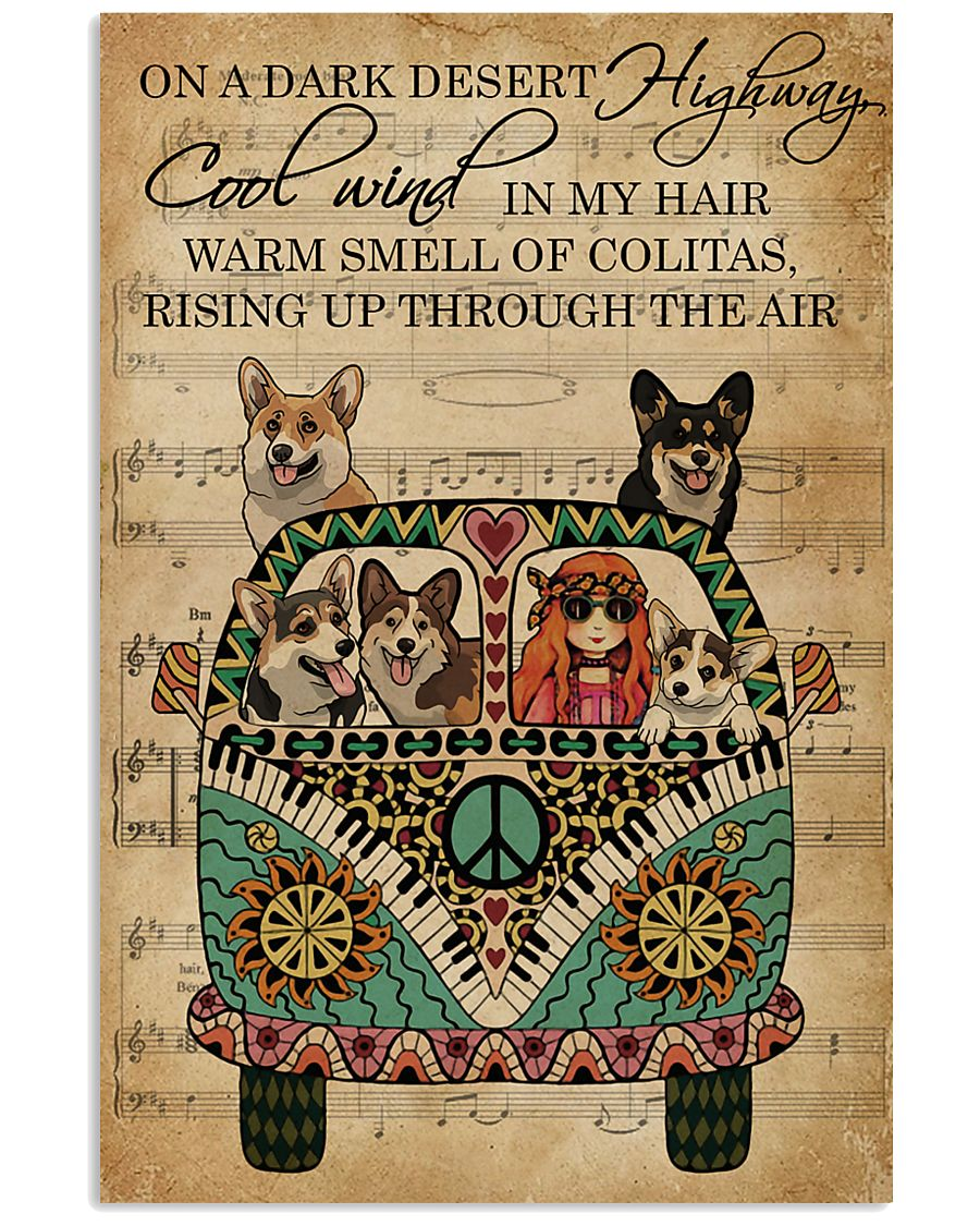 Music Sheet Cool Wind Corgi 11x17 Poster