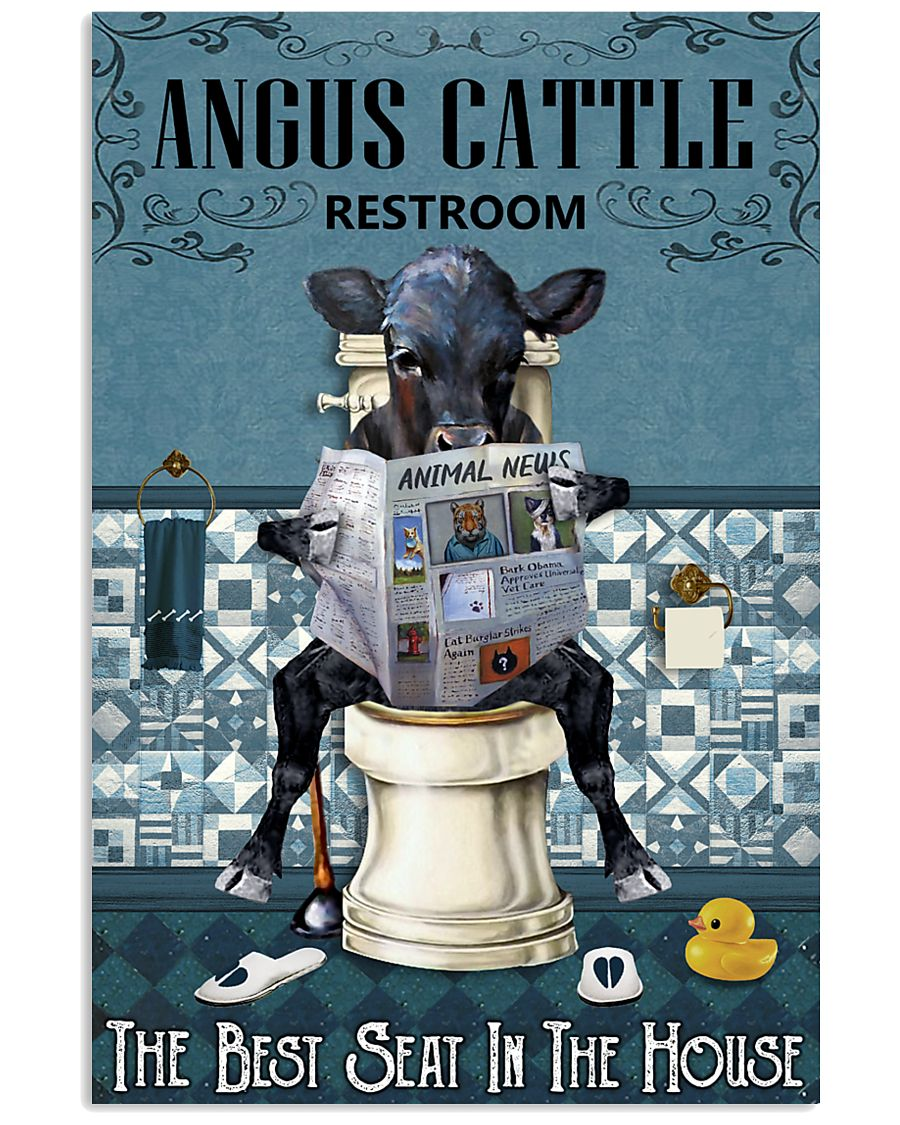 Reading News Restroom Angus cattle 11x17 Poster