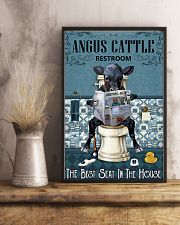 Reading News Restroom Angus cattle 11x17 Poster lifestyle-poster-3