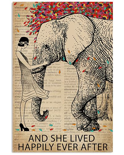 Vintage Dictionary Lived Happily Elephant