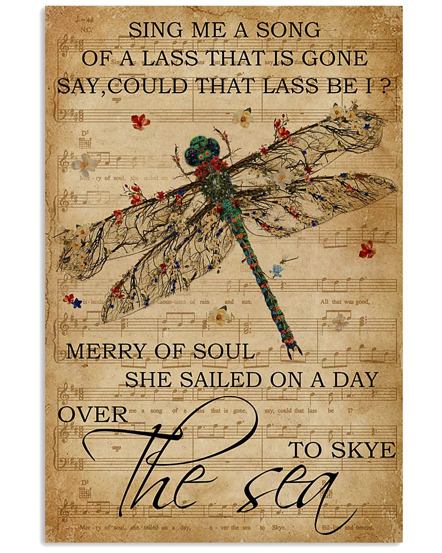 Music Sheet Sing Me A Song Dragonfly 11x17 Poster