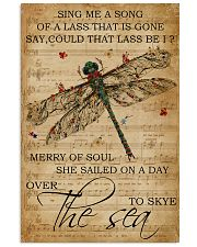 Music Sheet Sing Me A Song Dragonfly 11x17 Poster front