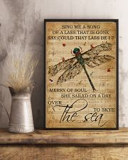 Music Sheet Sing Me A Song Dragonfly 11x17 Poster lifestyle-poster-3