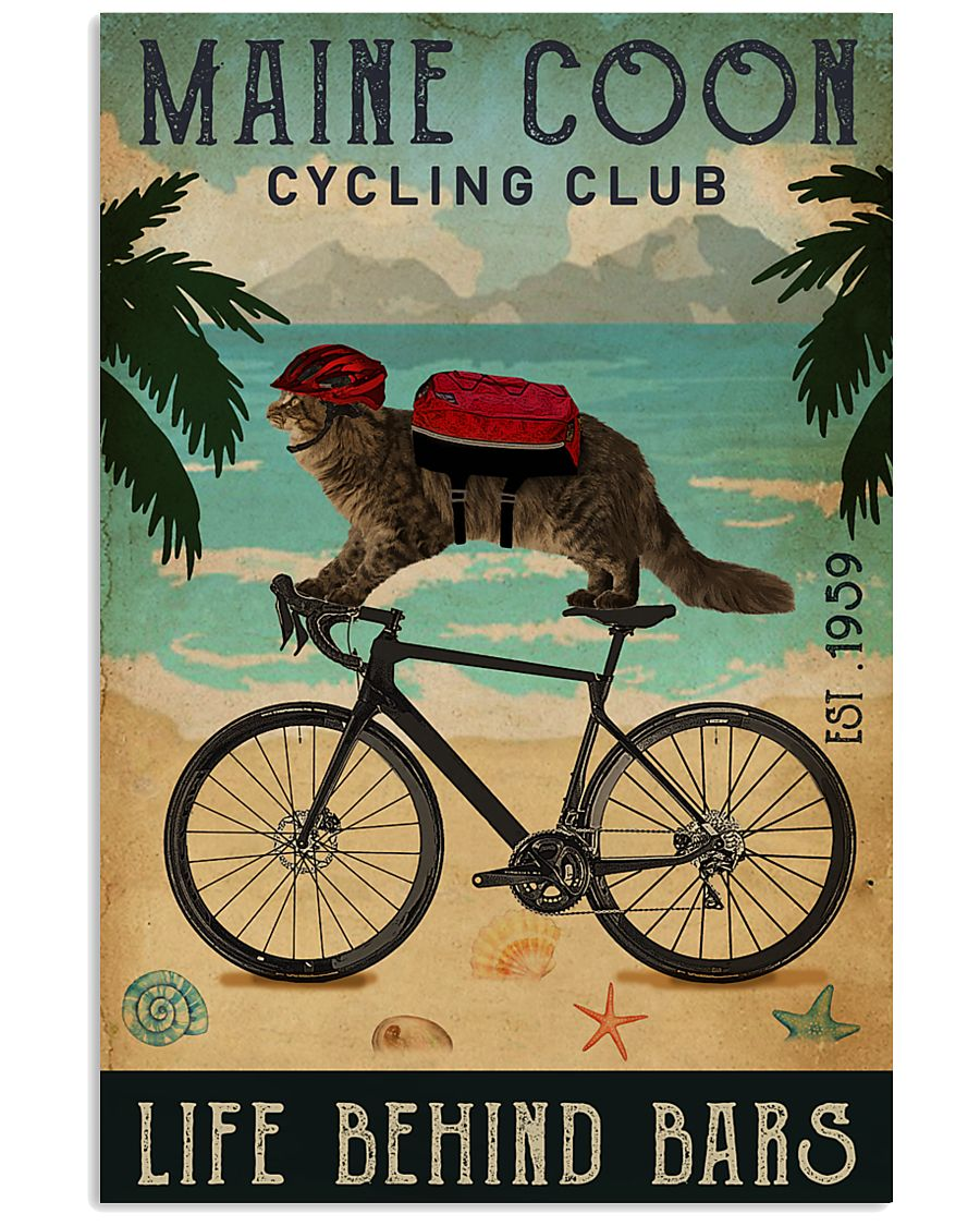 Cycling Club Maine Coon 11x17 Poster