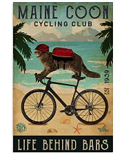 Cycling Club Maine Coon 11x17 Poster front
