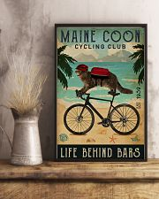 Cycling Club Maine Coon 11x17 Poster lifestyle-poster-3