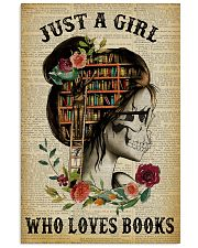 A Girl Who Loves Books Skeleton Reading 11x17 Poster front