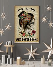 A Girl Who Loves Books Skeleton Reading 11x17 Poster lifestyle-holiday-poster-1