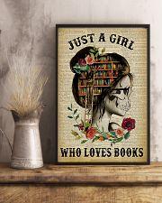 A Girl Who Loves Books Skeleton Reading 11x17 Poster lifestyle-poster-3
