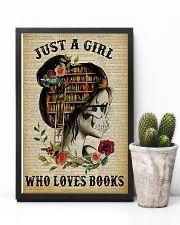A Girl Who Loves Books Skeleton Reading 11x17 Poster lifestyle-poster-8