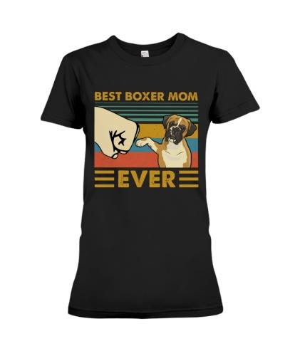 Retro Blue Best Boxer Mom Ever