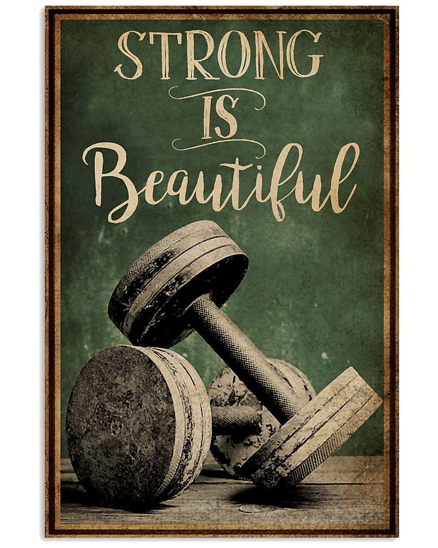 Retro Strong Is Beautiful Gym 16x24 Poster