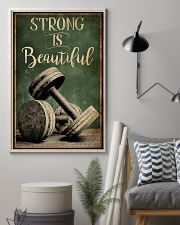 Retro Strong Is Beautiful Gym 16x24 Poster lifestyle-poster-1