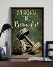 Retro Strong Is Beautiful Gym 16x24 Poster lifestyle-poster-2