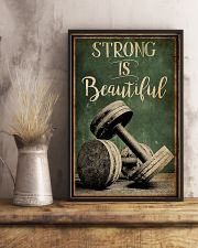 Retro Strong Is Beautiful Gym 16x24 Poster lifestyle-poster-3