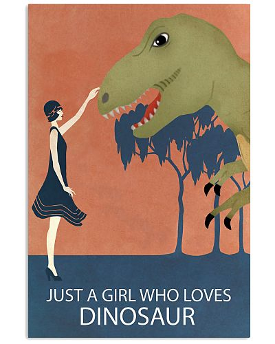 Vintage Girl Who Loves Dinosaur