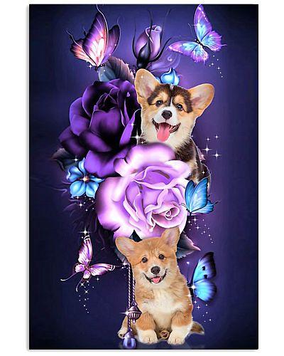 Magic Purple Rose Corgi
