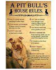Pit bull House Rules 11x17 Poster front