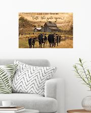 Angus Cattle Let The Gate Open 24x16 Poster poster-landscape-24x16-lifestyle-01