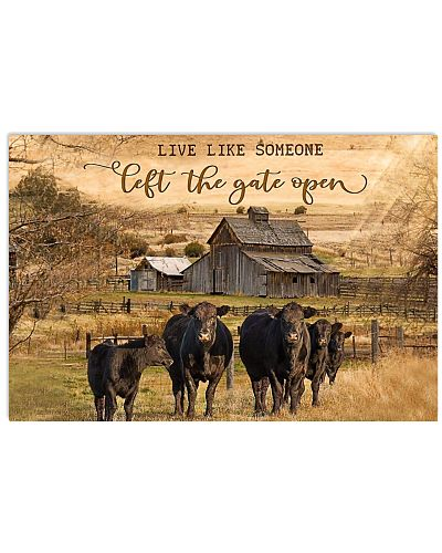 Angus Cattle Let The Gate Open