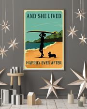 Vintage She Lived Happily Surfing Girl Corgi 11x17 Poster lifestyle-holiday-poster-1