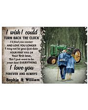 Personalized Tractor Turn Back The Clock 24x16 Poster front
