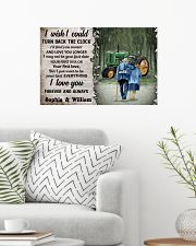 Personalized Tractor Turn Back The Clock 24x16 Poster poster-landscape-24x16-lifestyle-01