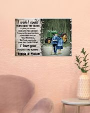 Personalized Tractor Turn Back The Clock 24x16 Poster poster-landscape-24x16-lifestyle-23