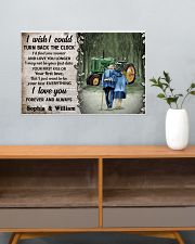 Personalized Tractor Turn Back The Clock 24x16 Poster poster-landscape-24x16-lifestyle-25